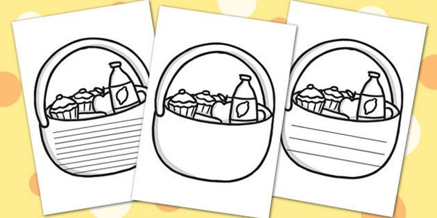 picnic basket writing frames picnic write writing template
