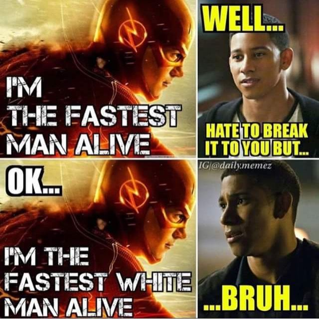 technically, since Wally couldn't beat Savitar, and Savitar IS Barry, Barry IS the fastest man alive.