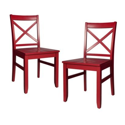 I Like These Red Chairs From Target Threshold™ Carey Dining Chair Alluring Dining Room Chairs Red Decorating Design
