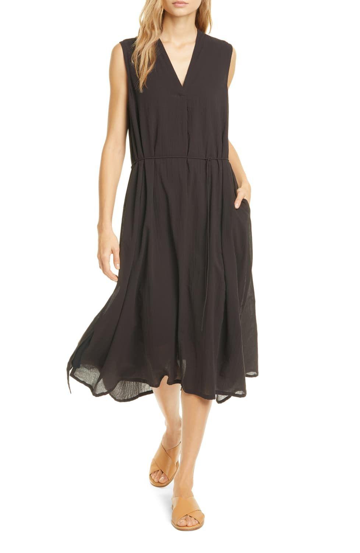 Vince Sleeveless Tie Waist Midi Dress Nordstrom Day To Night Dresses Midi Dress Dresses [ 1500 x 978 Pixel ]