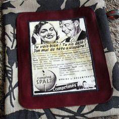 Trousse en toile publicité vintage spalt 1961