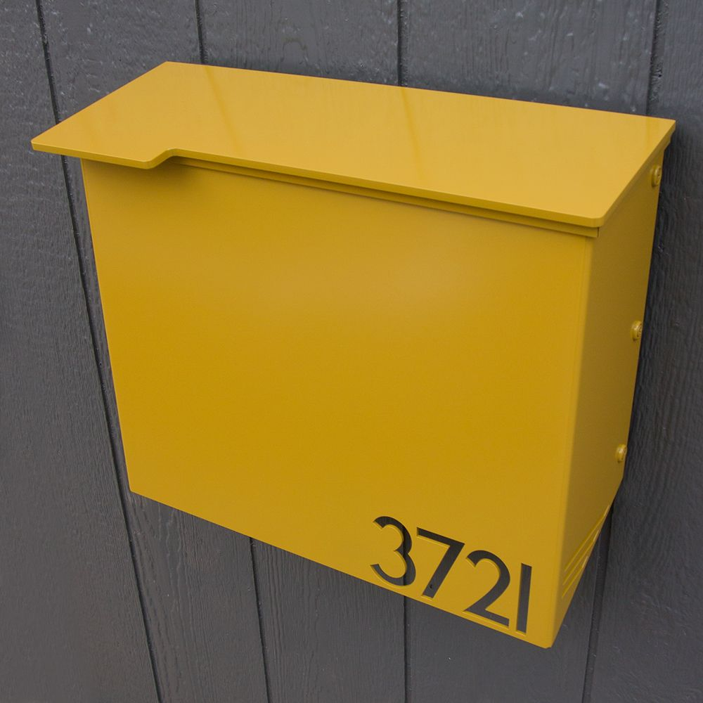 custom house number mailbox no  wrapfront in powder coated  - custom house number mailbox no  wrapfront in powder coated aluminumstreamline edition contemporary