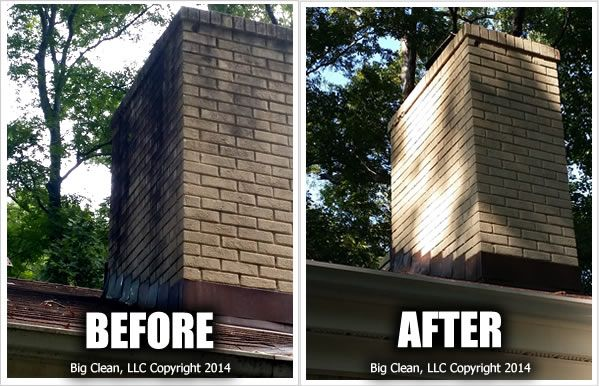 Pressure Washing A Brick Chimney Before And After Charlotte Nc Bigclean Pressure Washing House Pressure Washing Pressure Washing Business