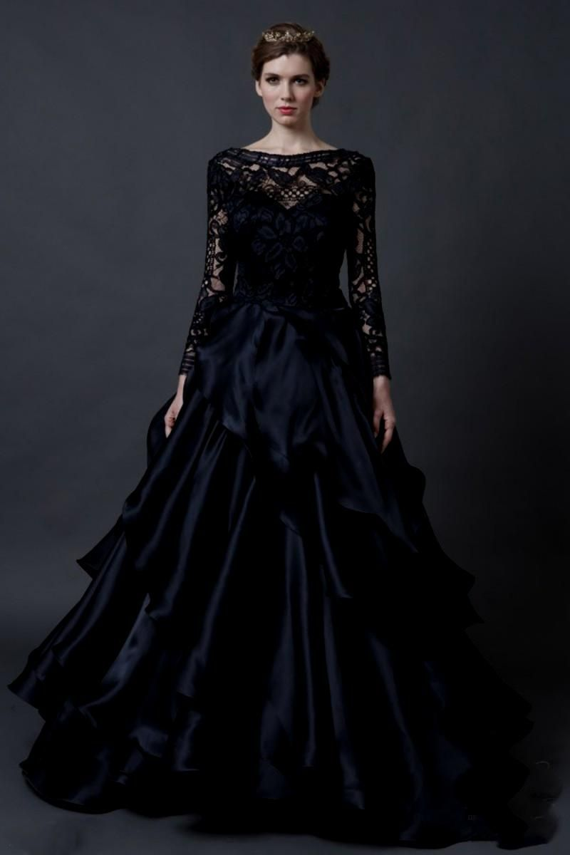 20+ Black Wedding Dresses with Sleeves - Cute Dresses for A Wedding ...