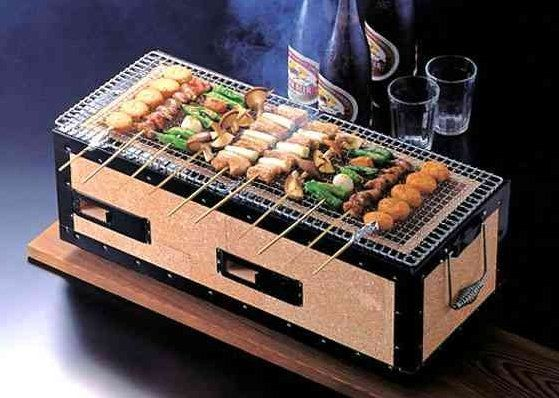 Designed For Japanese Yakitori (meat On Sticks) This Small Tabletop Unit By  Korin Is An Exotic Alternative To A Standard, Clunky Charcoal Grill.