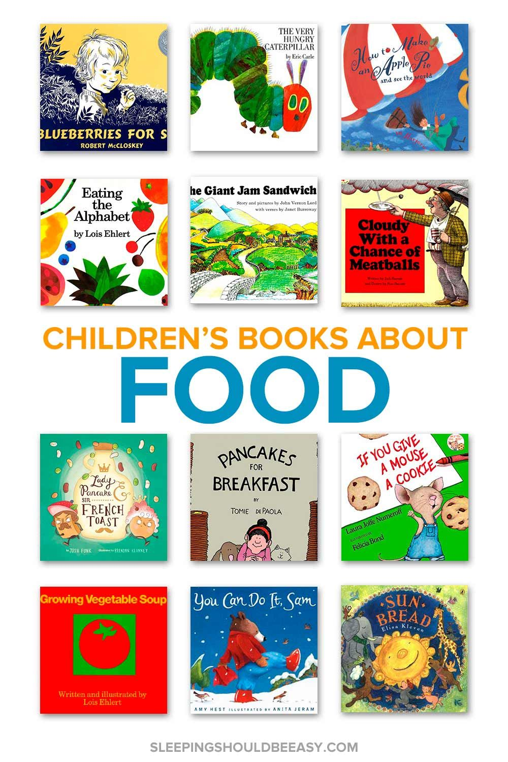 Childrens books about food cooking classes for kids