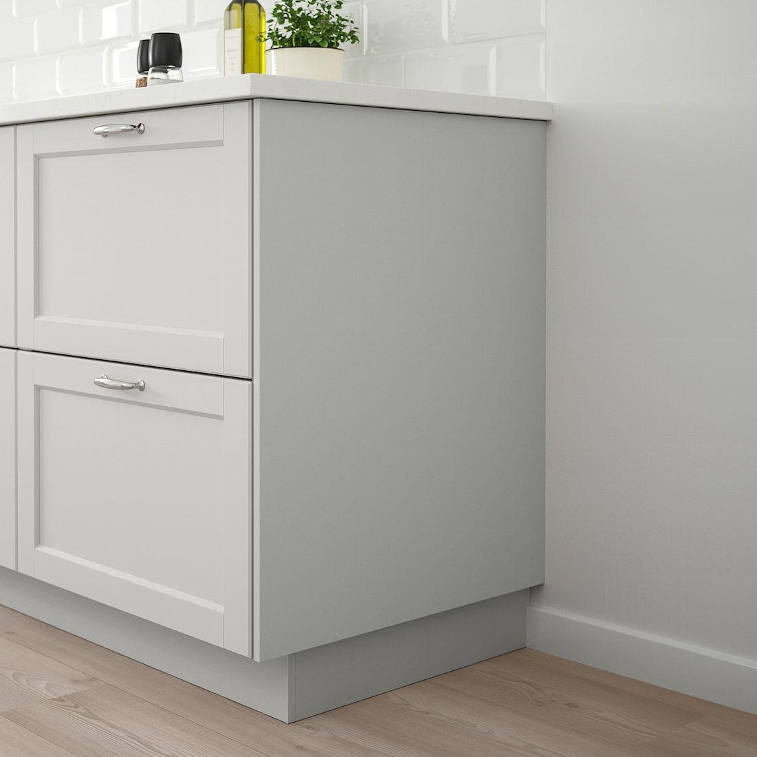 Lerhyttan Cover Panel Light Gray 25x30 Ikea In 2020 Grey Ikea Kitchen Light Gray Cabinets Light Grey Kitchens