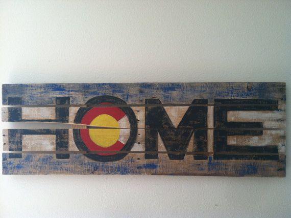 Colorado flag wooden art by RockyMountainBuckeye on Etsy ...