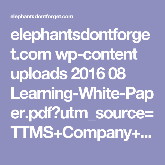 ElephantsdontforgetCom WpContent Uploads   LearningWhite