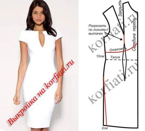 Выкройка платья стильные
