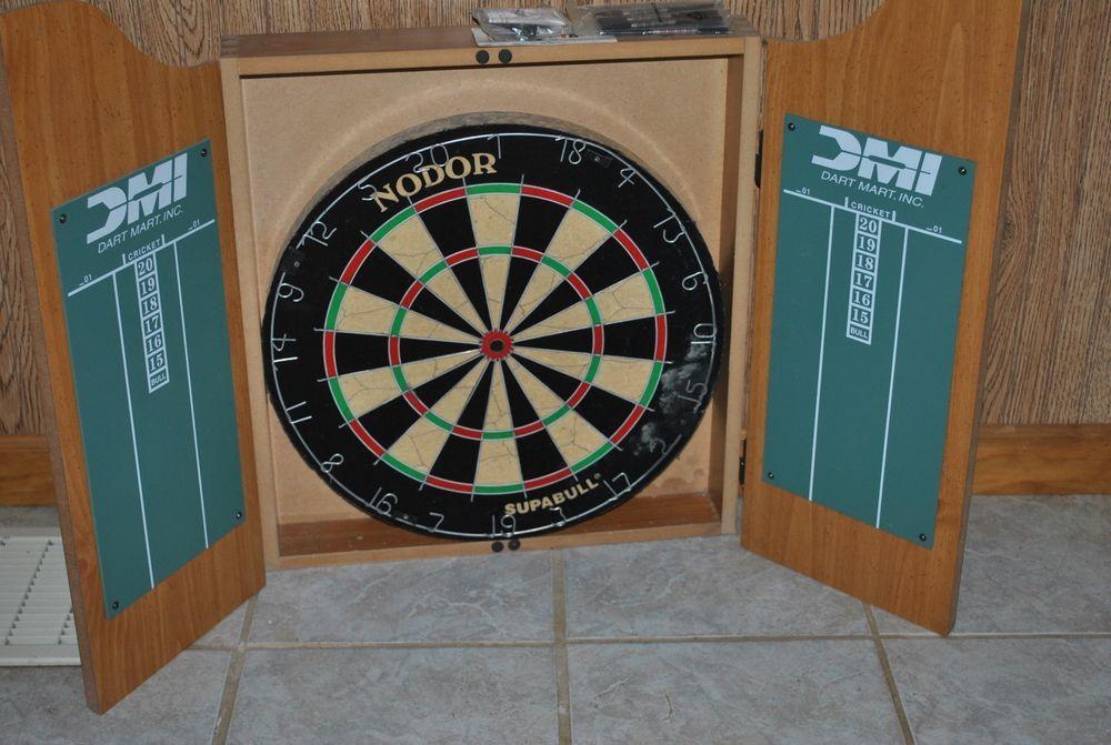 Vintage Classic Marlboro Light Oak Wood Finish Cabinet Dart Board Hard To Find Marlboro Lights Light Oak Dart Board