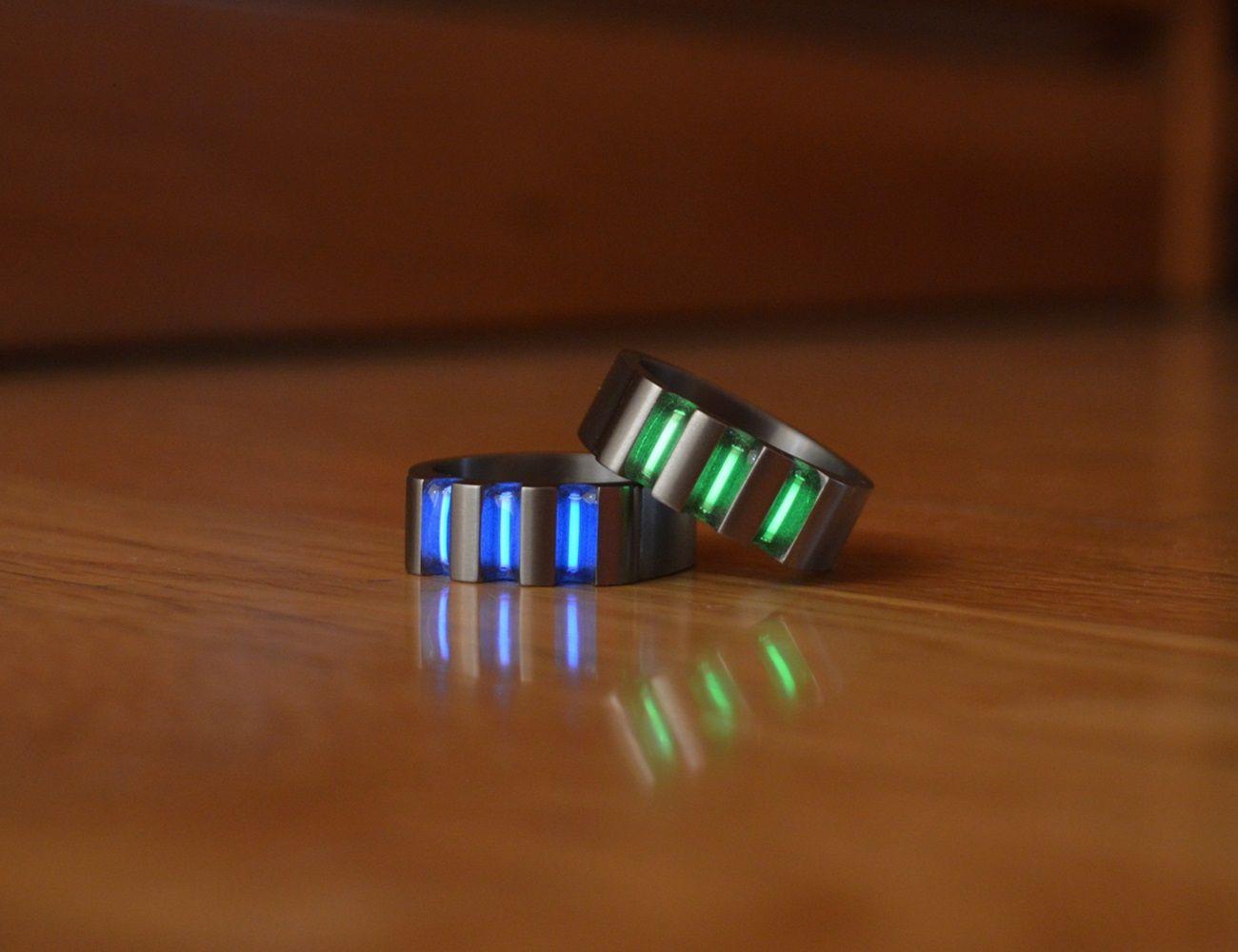 Titanium Tritium Rings Tritium Rings Titanium Rings