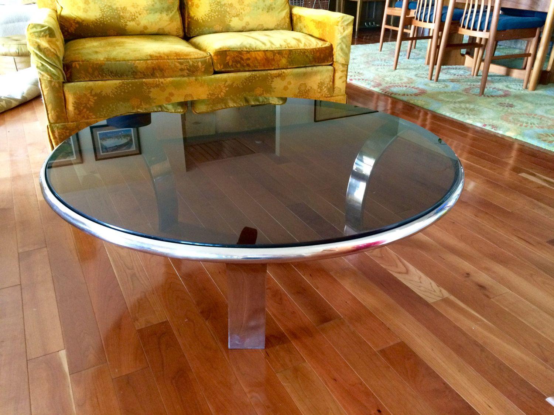small smoked glass coffee table