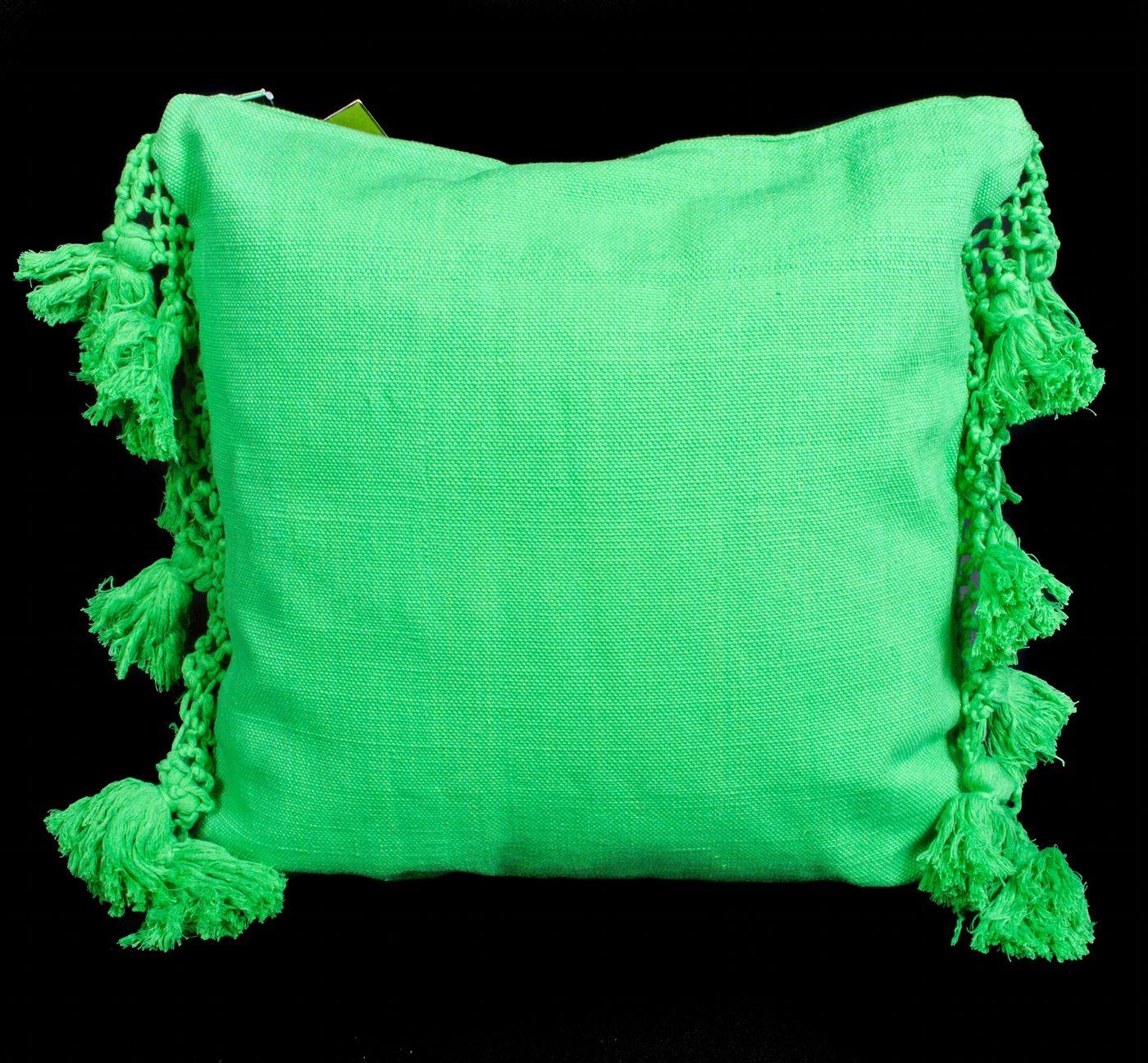 Pair Of Kate Spade Tassel Pillows Pillows Green Pillows Floral Event Design