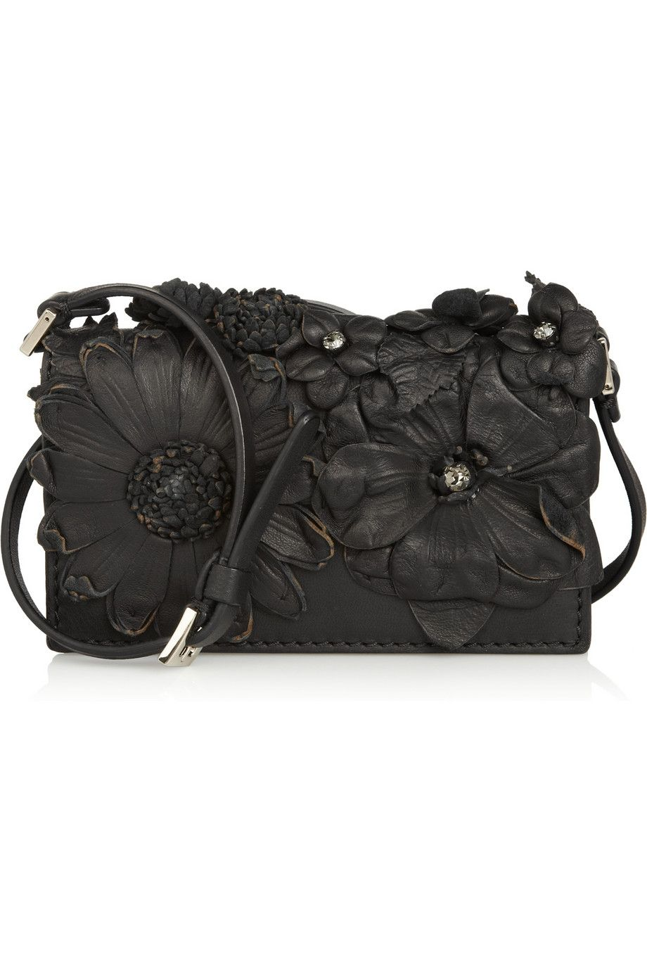Flowers in leather