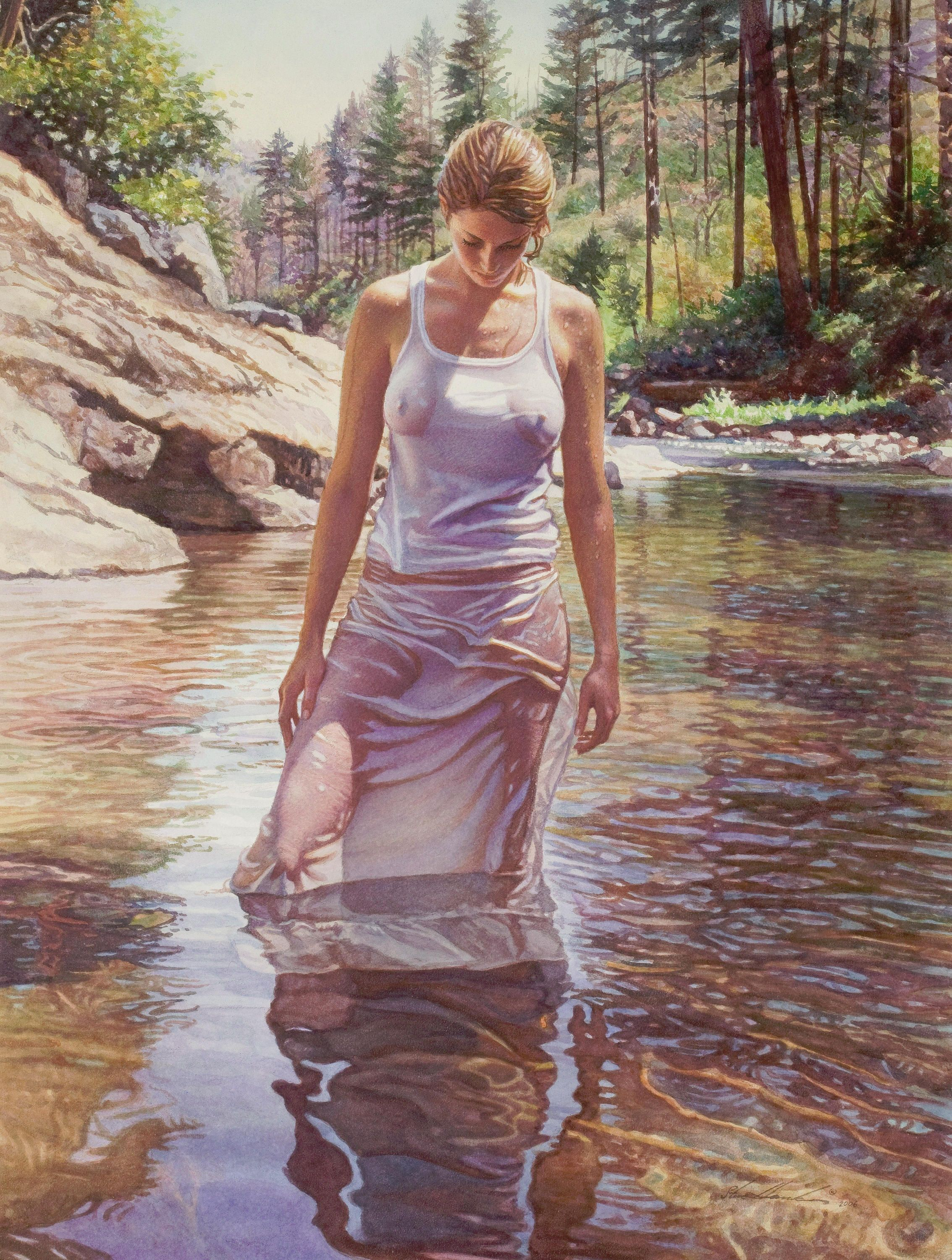 Steve Hanks: inspirational and romantic watercolors 34