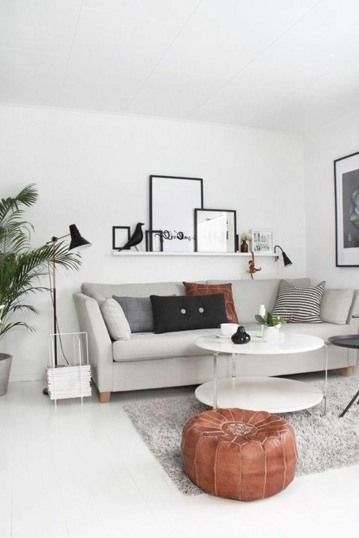 Quelle Sofa 1001 idées de décor en utilisant la couleur gris perle les