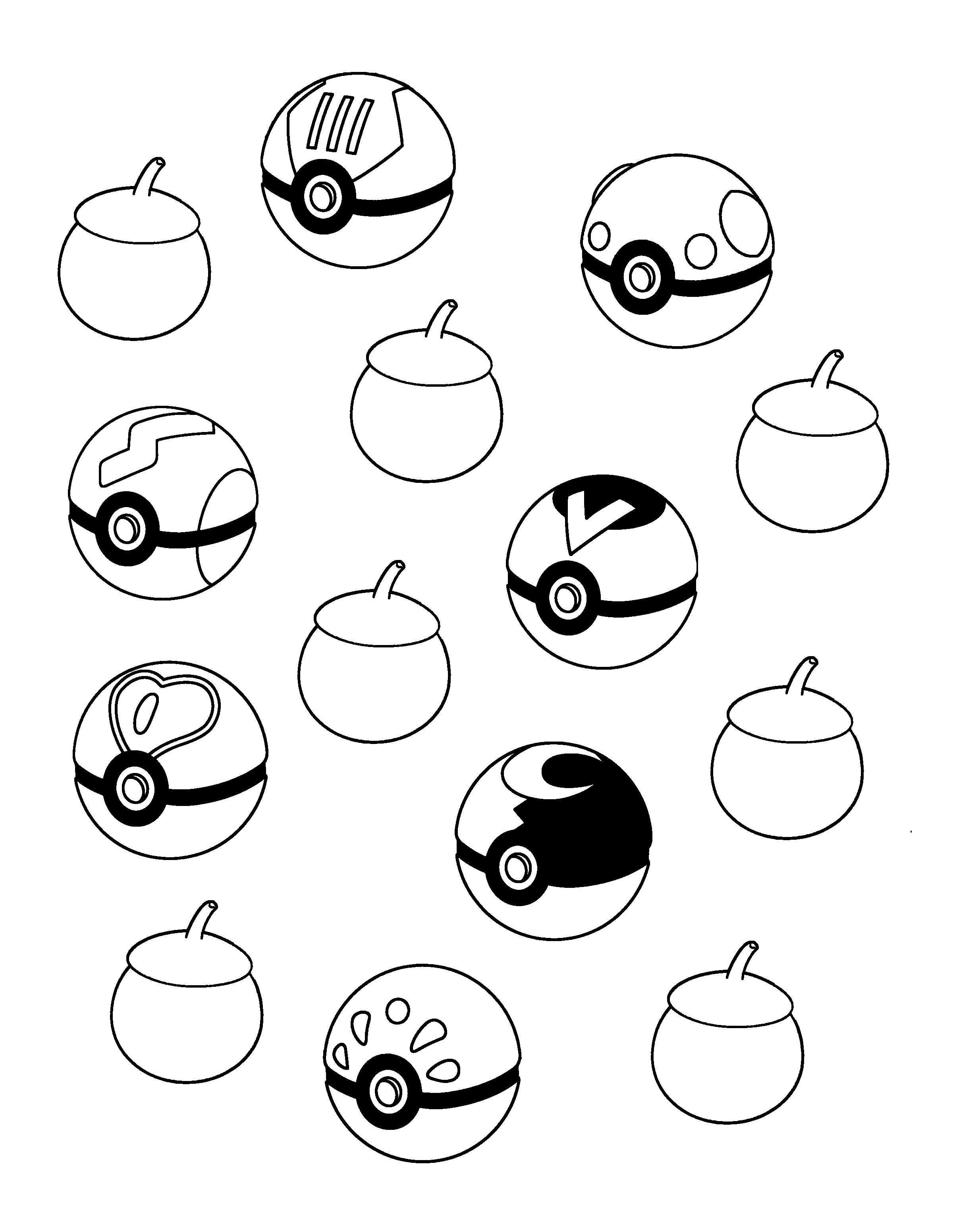 Poke Ball Coloring Page