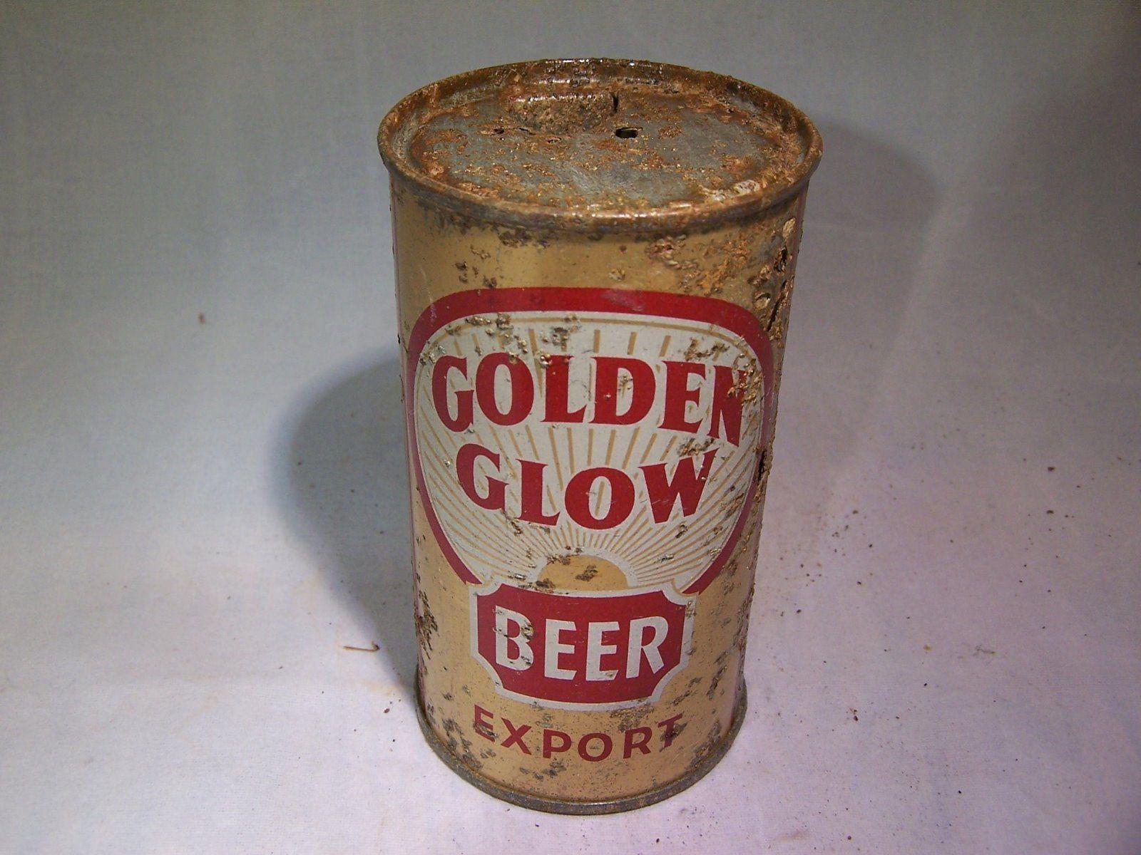 Golden Glow Beer Flat Top Beer Can | eBay