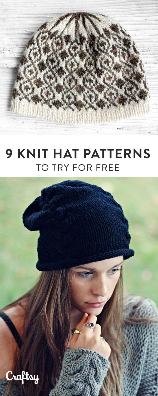 12 Quick and Easy Knit Hat Patterns | Knitted hat patterns, Knit ...