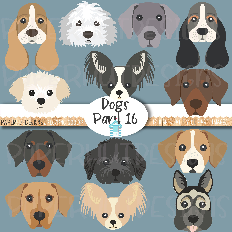 Dog Faces Clipartdog Faces Clip Artdog Illustrationpuppy Etsy Dog Clip Art Dog Face Puppy Clipart