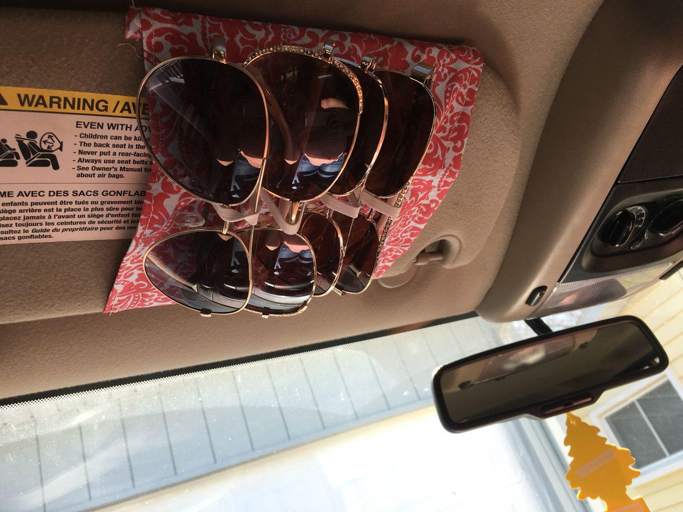 Car Suv Sun Visor Clip Sunglasses Storage Box Glasses Holder Transparent Color Watches, Parts & Accessories
