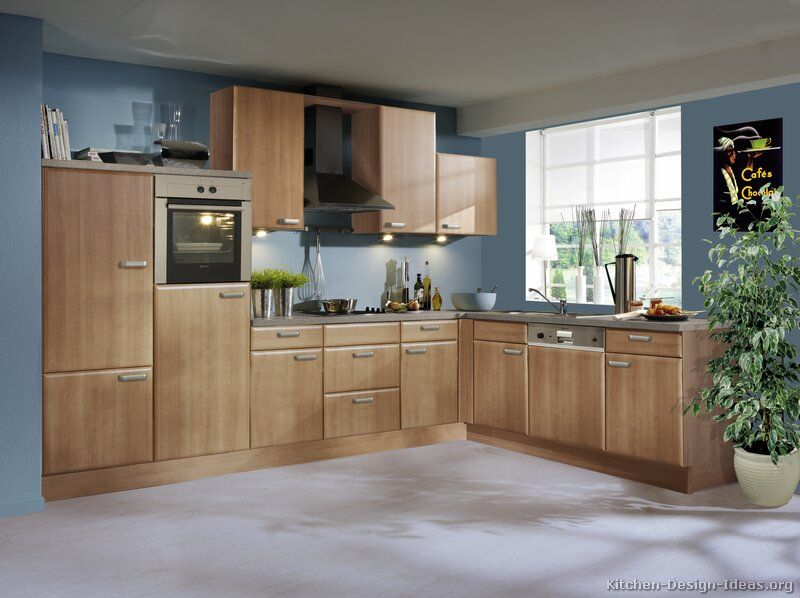 blue kitchen colors. Idea of the Day  Natural warmth Modern wood kitchens in medium tones By ALNO AG Very lovely thermofoil blue walls Kitchen