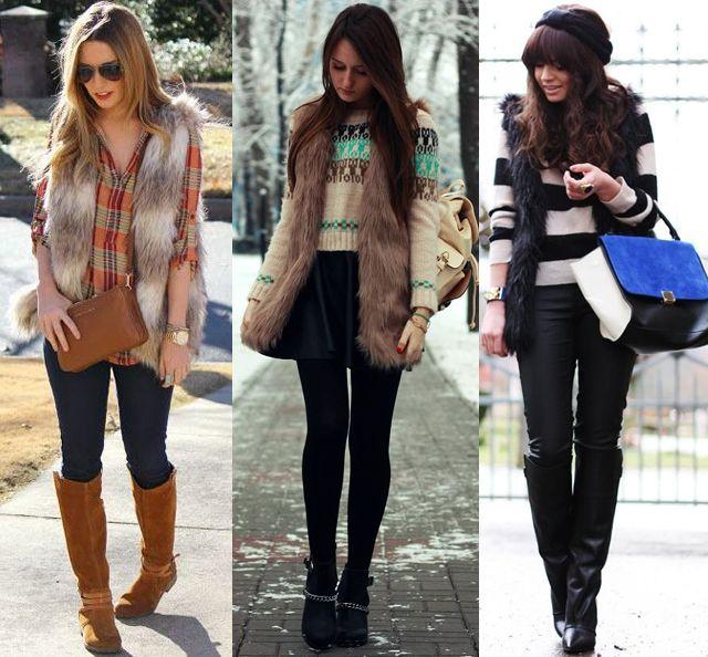 fur vest outfit ideas fashion pinterest fur and fashion