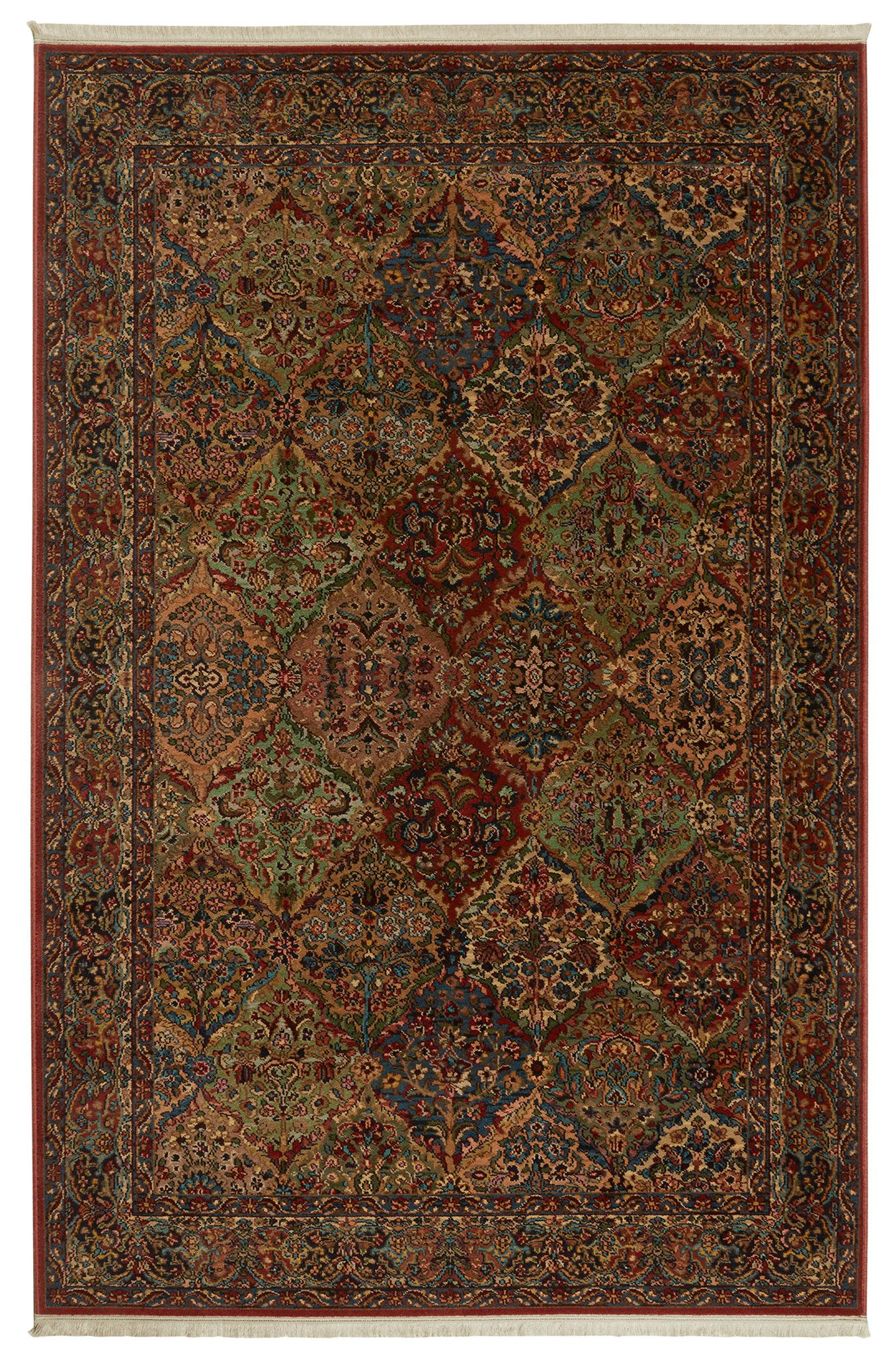 Original Karastan Multi Panel Kirman 00717 Multi Rug Karastan Rugs On Carpet Simple Carpets