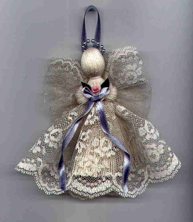 Crochet Angel Baptism Gift Christmas Lace Angel Ornament Tree: Victorian Handmade Lace Angel