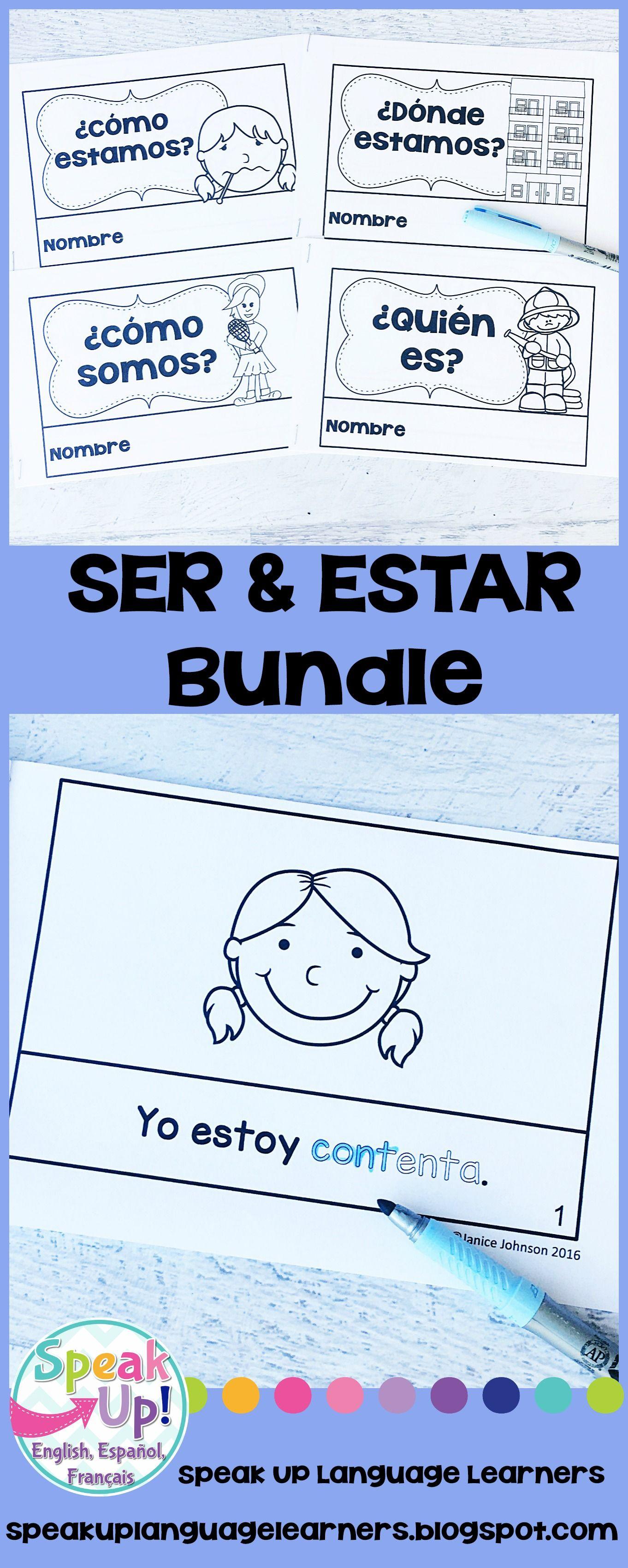Spanish Ser Amp Estar Readers Amp Build A Books Bundled Set