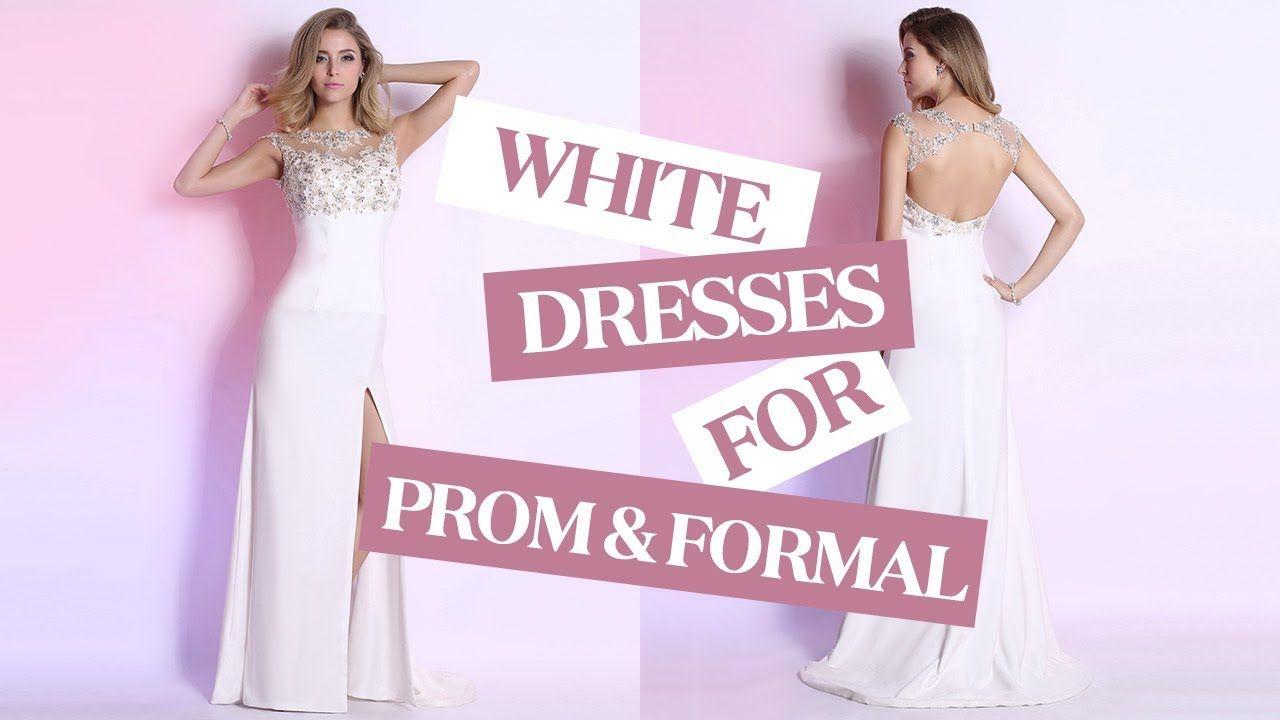 Classy white prom dresses elegant formal evening party dress