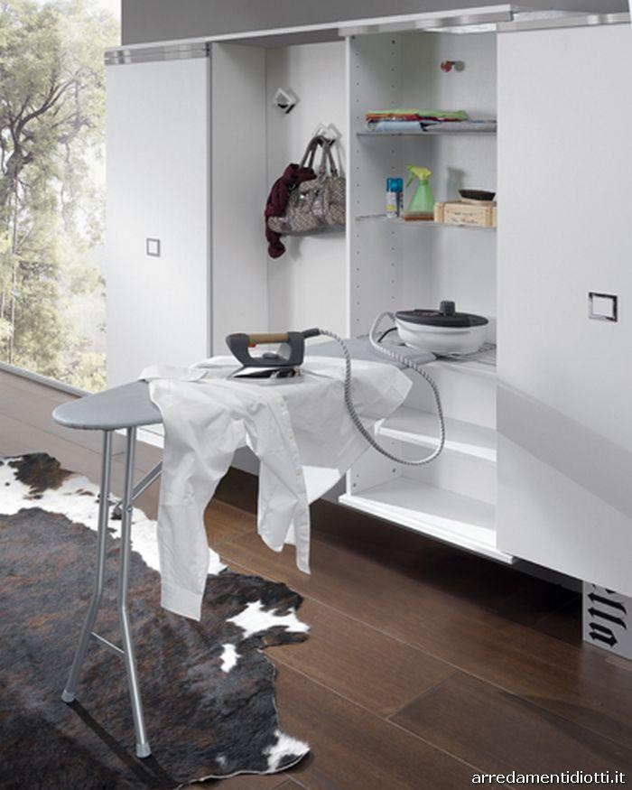 Ziemlich Bathroom Cabinets: Armadietto Salvaspazio Scarpiera E Stireria Evolution
