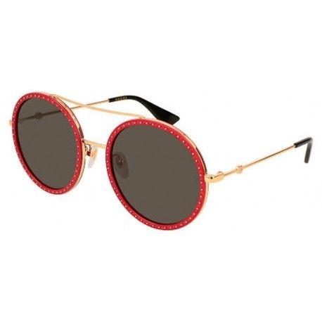 ba7a13c01 Gafas de Sol GUCCI GG0061S Gold Red Stones - Grey (018) | Gafas de ...