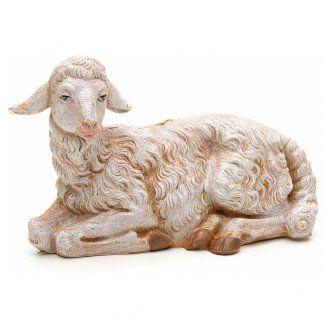 Pecora seduta 30 cm Fontanini | Antique christmas, Wood carving, Sheep