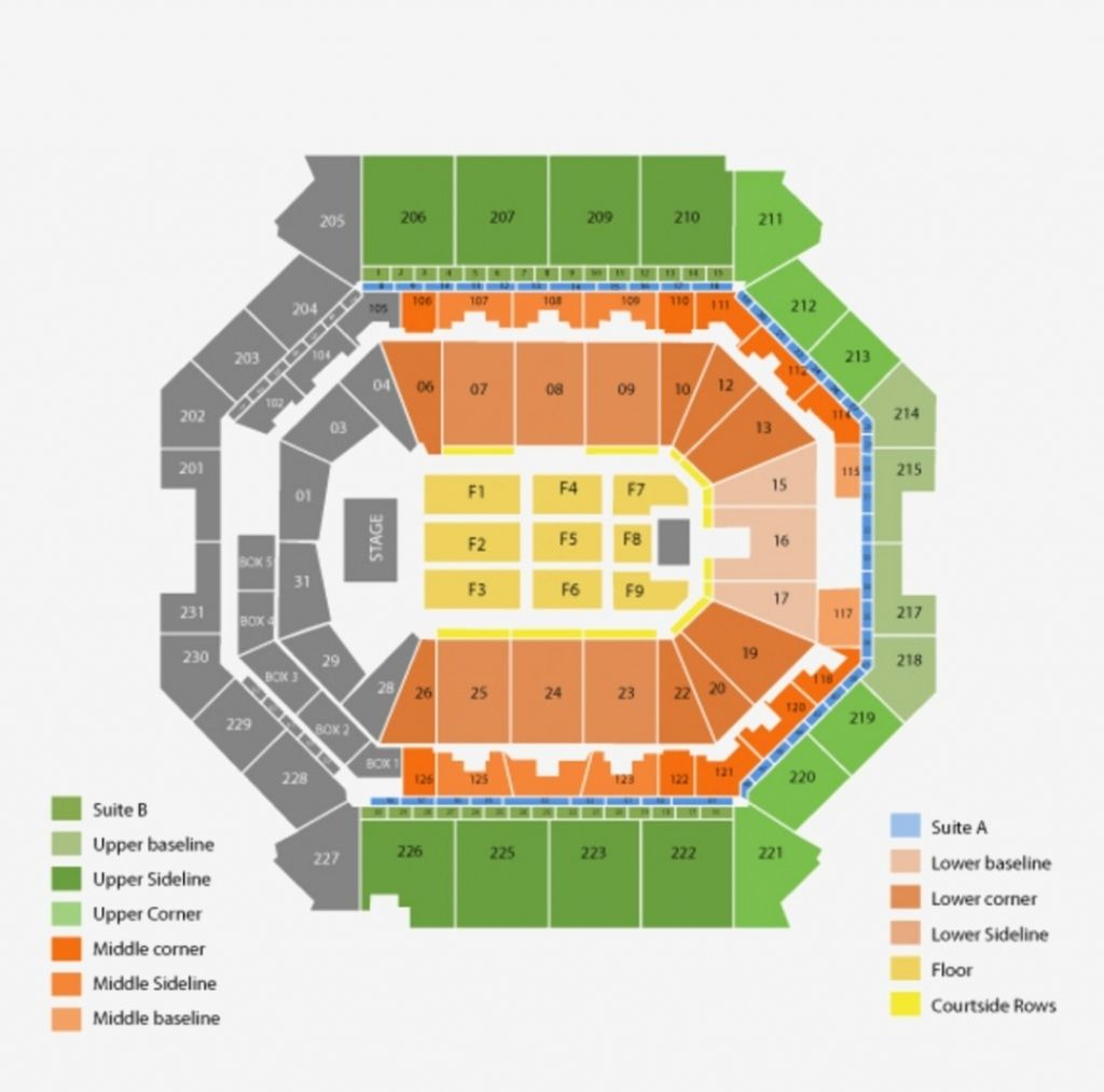 Barclays Center Seating Chart With Seat Numbers Seating Charts Barclays Center Chart