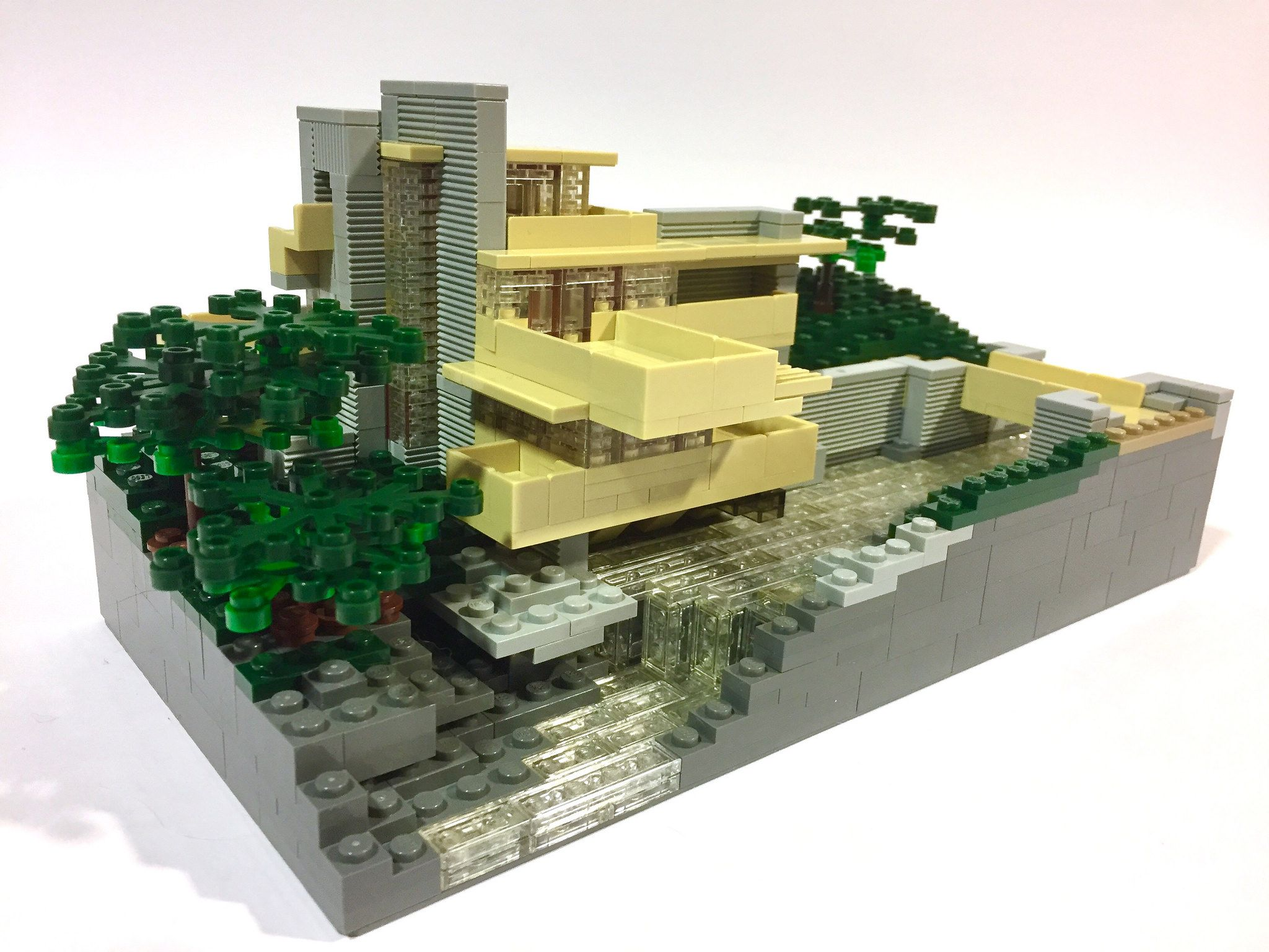 modified lego architecture set fallingwater designed by frank