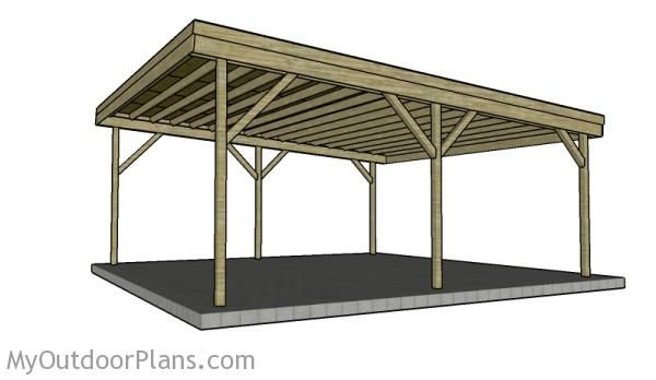 2 car carport plans myoutdoorplans free woodworking for Free carport blueprints