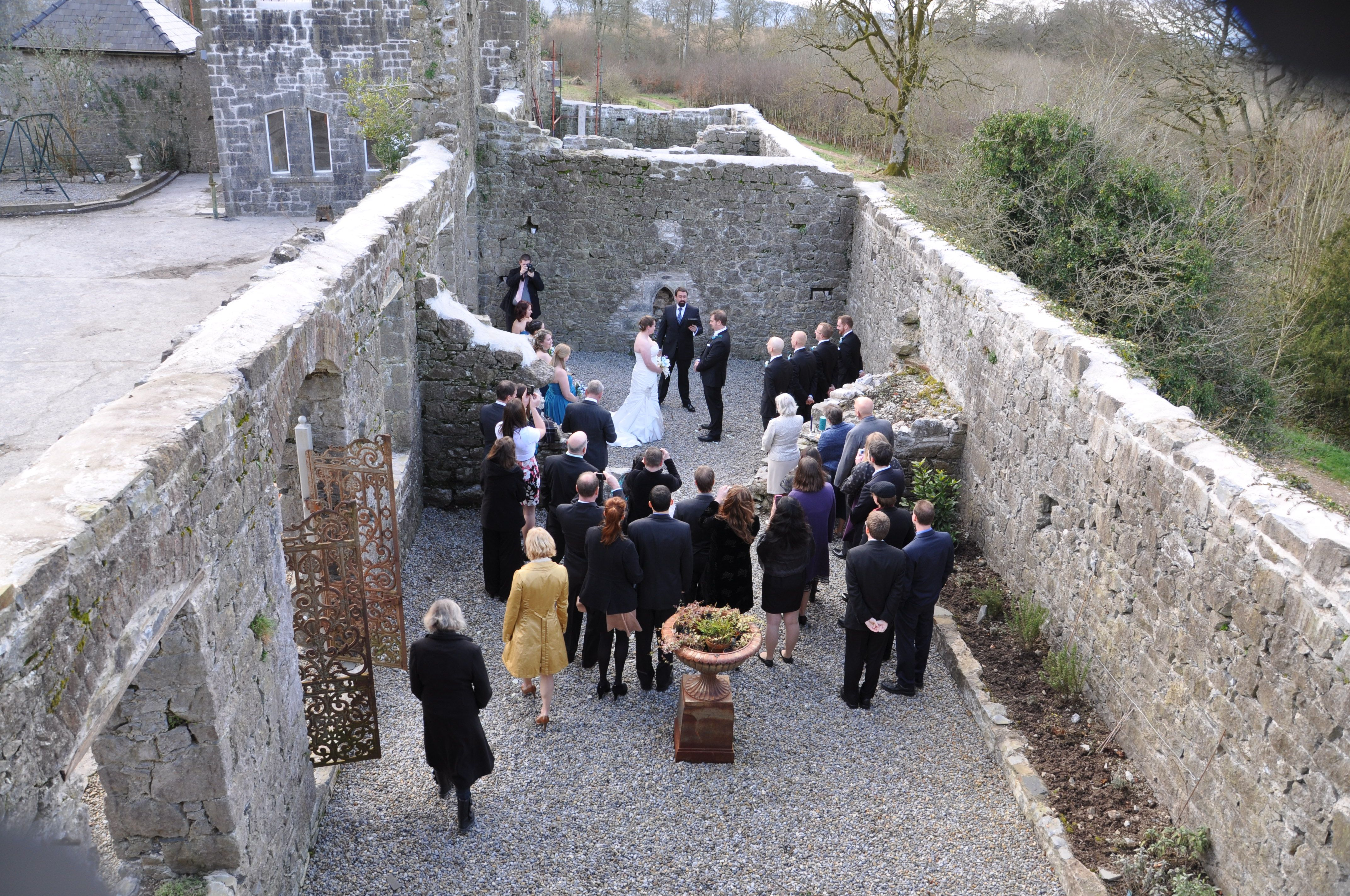interesting wedding venues ireland%0A Wedding in the patio of the East Tower