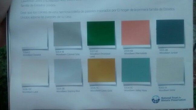Valspar Color Palette From The National Trust For Historic