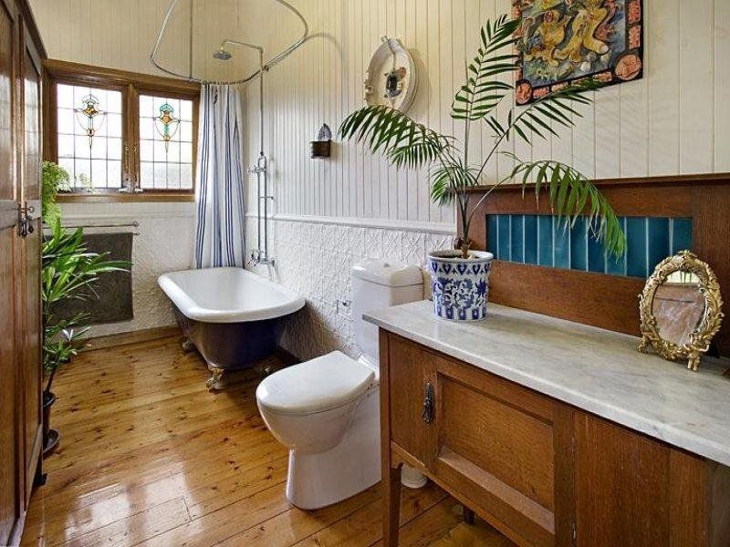 Classic bathroom design with claw foot bath