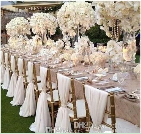 Simple Chair Sashes Chiffon Wedding Cover Bridal Party Banquet Back Favors Ribbon Fast Shipping From Click Me