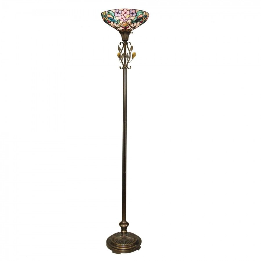 Dale Tiffany Lamps Crystal Peony Torchiere Floor Lamp In Antique Golden Sand Tr90211 Dale Tiffany Torchiere Floor Lamp Torchiere Lamp