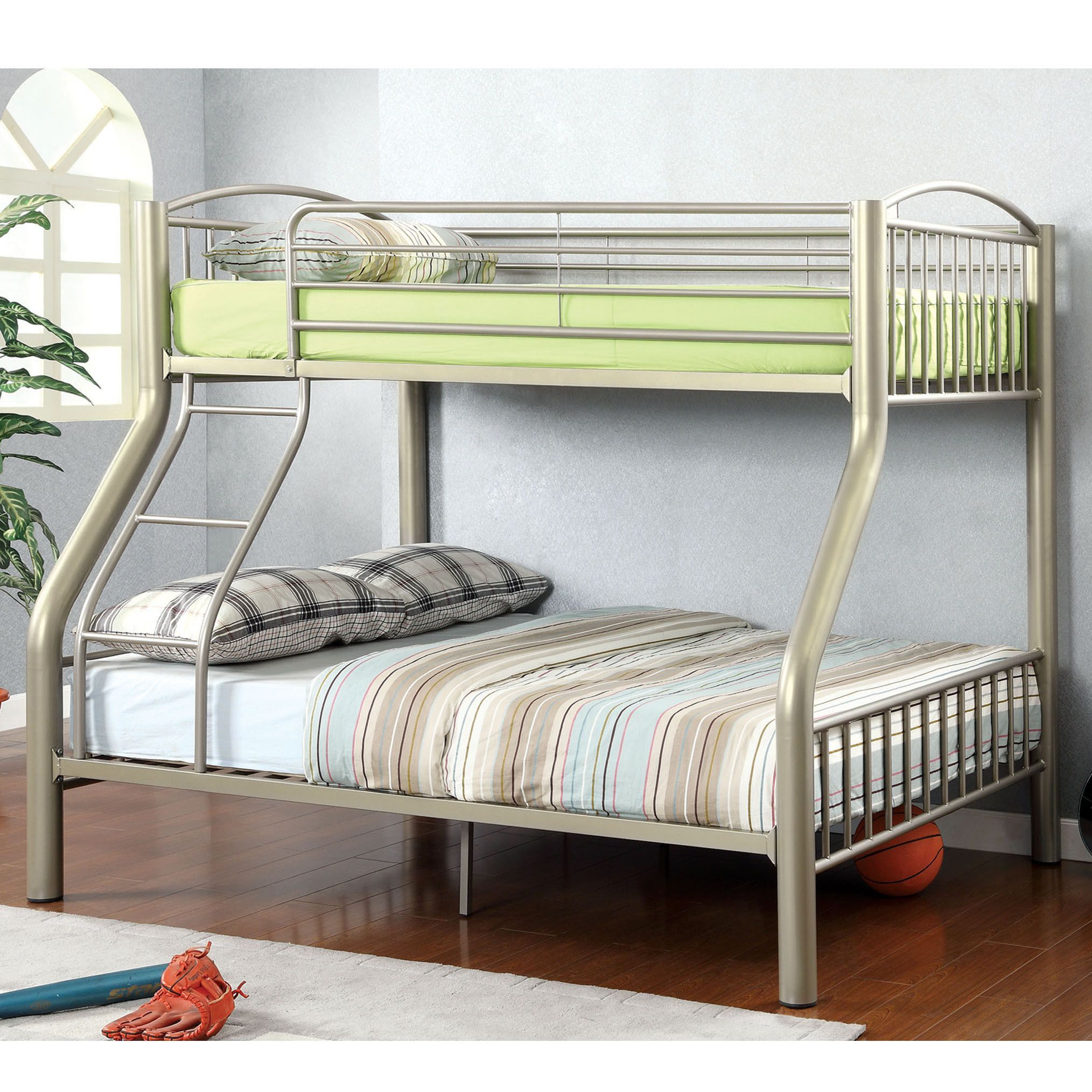 Best Olivane Modern Twin Over Full Metallic Gold Bunk Bed By 640 x 480