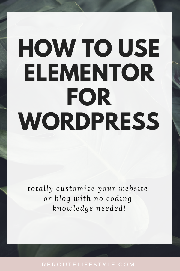 How much time do you spend customizing your WordPress blog theme? The best theme for WordPress blogs and website actually comes in a plugin form - Elementor Pro! Read this step-by-step Elementor Pro tutorial to design your first page on your website.   Design beautiful websites with RerouteLifestyle.com
