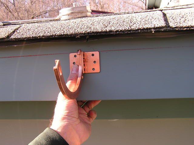 Copper Rain Gutter Installation Half Round Roofing How To Rain Gutter Installation How To Install Gutters Copper Gutters