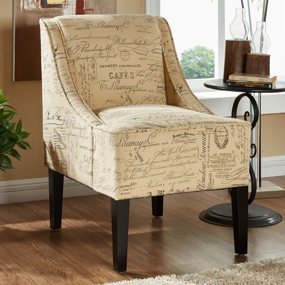 Spiritual Script Accent Chair: Phoenix Side Chair - Script