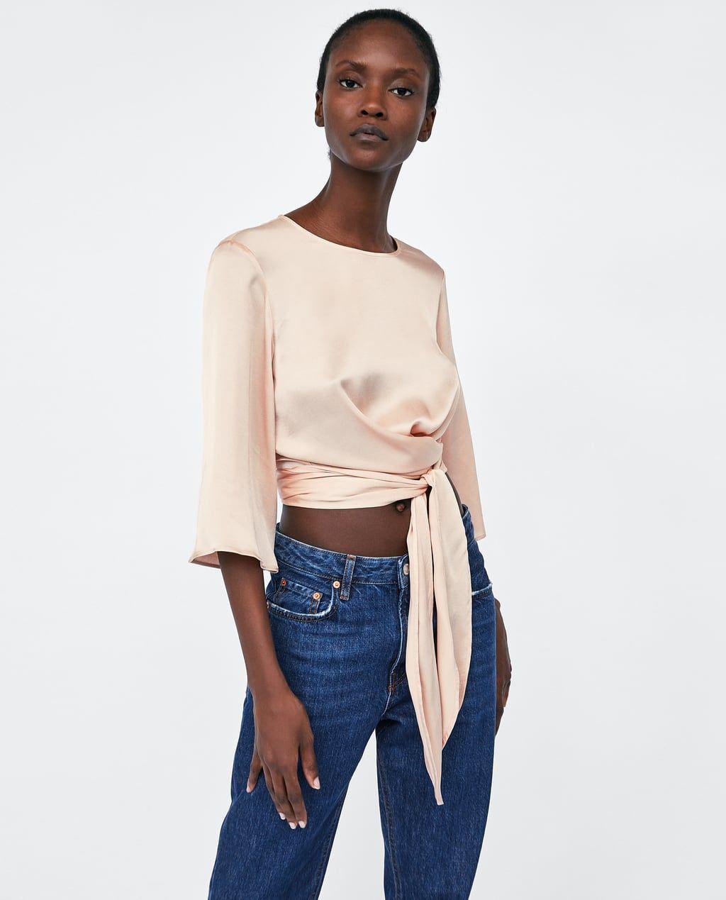 deaa6e5d4 SATIN CROP TOP from Zara | Under $50 | Favorite Steals + Deals ...