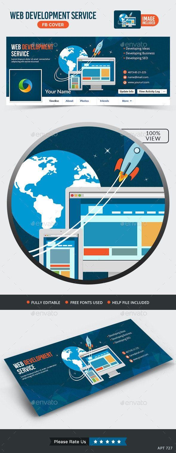 Web Development Facebook Cover — PSD business