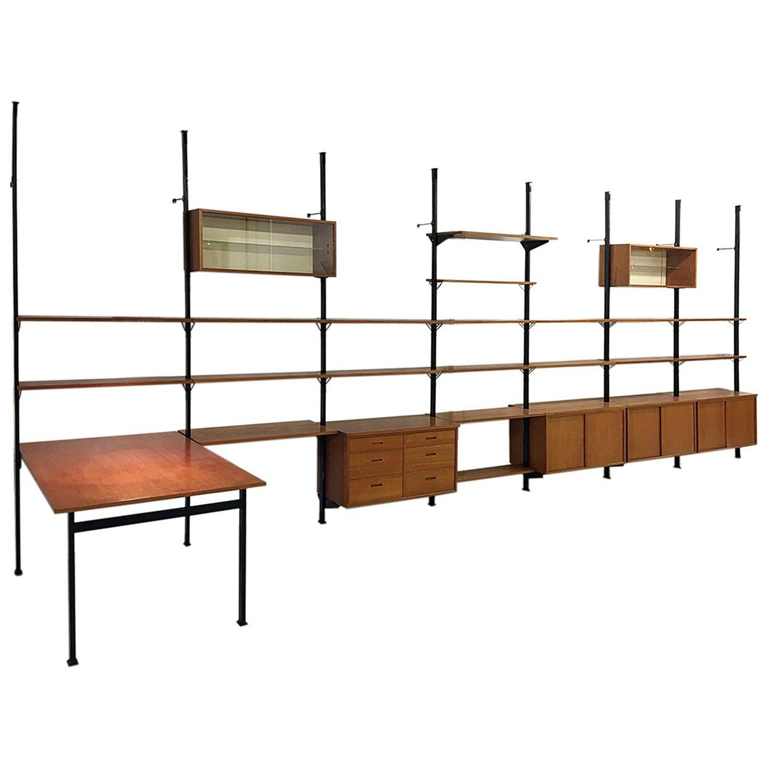 String Regal Vitrine Large 1960s Modular Shelving System Pira By Olaf Pira For